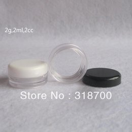 Wholesale 2g PS Cream Jar Cosmetic Container Sample Jar Display Case Cosmetic Packaging Mini plastic bottle small tin