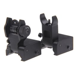Funpowerland New Front and Rear Backup Rapid Transition Flip Up Folding Iron Sight