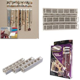 Wholesale Adhesive Jewelry earring necklace hanger holder Organizer packaging Display jewelry rack sticky hooks Wall Mount stand tray para