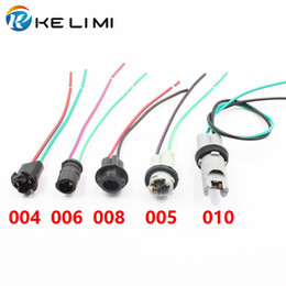 Car Truck Xenon LED Light Bulb Holders Socket Connector plugs Pre-wired adapter Pig Tale harness T10 W5W 194 168 T15