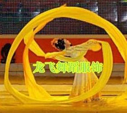 Classical Dance colored silk silk long silk ribbons flying dance costumes performing exercises special ribbon sleeves