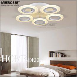 Descuento montaje en el techo accesorios de iluminación Anillo de techo LED del accesorio ligero montado a ras de acrílico blanco LED de la lámpara de techo del pasillo Pasillo del pórtico de luz diferentes tamaños