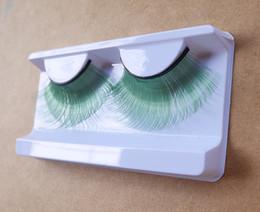 Cils de scène à vendre-Lumière vert fibres synthétiques faux cils pour maquillage scène maquillage cosplay