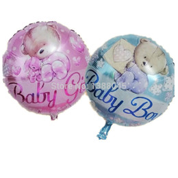 Wholesale 18 Inch Round Baby Bear Helium Foil Balloons Baby Girl Birthday  Party Supplies Baby