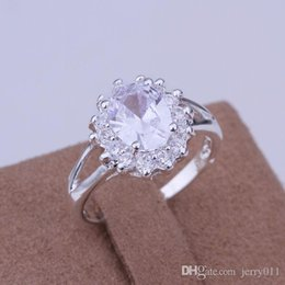 925 Sterling Silver Jewelry Ring Fine Fashion Silver Plated Zircon Women&Men Finger Ring Top Quality SMTR145