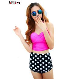 S-XXL bikini high waist swimsuit polka dot padded Push up bikini set with underwire pin up plus size swimwear biquini hot sale