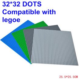 Wholesale Hot Sale LELE Blocks Baseplate with Size inch of dot Minifigures Bricks Base plate Colors