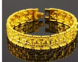 chaming yellow gold chain men's bracelet (pfmcgy88)fhf