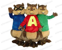 Wholesale 100 real photos Alvin Chipmunks mascot costume Cartoon Mascot adult carnival dress customized animal mascot fur mascotte