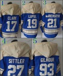 Wholesale Toronto Wendel Clark joffrey lupul james van darryl sittler Cheap Hockey Hooded Stitched Old Time Hoodies Sweatshirt Jerseys