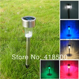 Wholesale-Solar lawn light led garden light stainless steel garden lamp solar lamp 12v 3w ip65 waterproof led garden outdoor