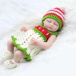 Wholesale NPK Cute Small inch Reborn Baby Dolls Full Vinyl Sleeping Girl Doll With Handmade Crochet Clothes