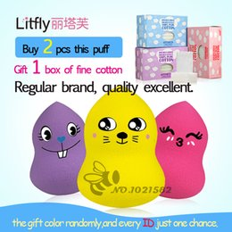 Wholesale Buy puff gift fine cotton pad Genuine Litfly Sponge puff Drop type Gourd type Sponge Beauty Makeup Tools Cosmetic Puff