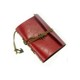 Wholesale 2015 Online Vintage Style Leather Cover Imitation Leather Notebook Journal Diary Blank String Nautical Wholesales Retailer