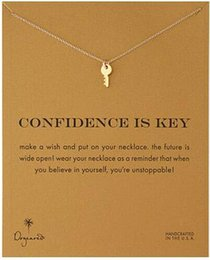 Wholesale Dogeared Necklace with key confidence is key noble and delicate no fade and high quality