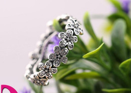 2016 NEWEST Daisy Silver Ring With Cubic Zirconia Authentic 925 sterling silver rings Fit for pandora charms jewelry women Fingers Ring