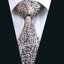 Brown Neck Ties for Men Jacquard Woven Mens Tie 8.5cm Width Formal Work Meeting Wedding D-0580