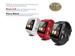 Promotion écran tactile pour samsung U8 U Montre SmartWatch Touch Screen WristWatch Pour iPhone Samsung HTC LG Huawei téléphone Android Smartphones Répondre et Composer Livraison gratuite