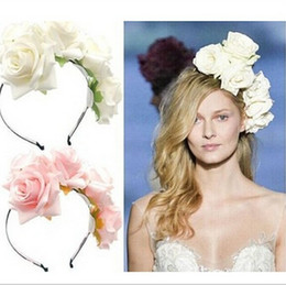 womens rose flowers hair crowns headbands hair accessories