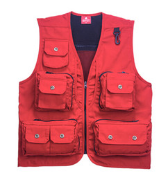 Fall-Free Shipping New Canvas Fishing Photography vest waistcoat male quick-dry waterproof multi-pocket quinquagenarian jackets