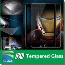 Wholesale For Ipad Mini Ipad MM H Tempered Glass Screen Protector For Tab4 T330 T530 iPAD Air Protector Film Treated Glass NO Package