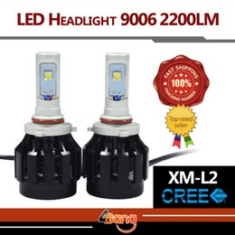 Wholesale 2x Super Bright White All In One CREE LED Headlight Kit LM Set W set Fog Headlamp Easy Install Just Plug Play