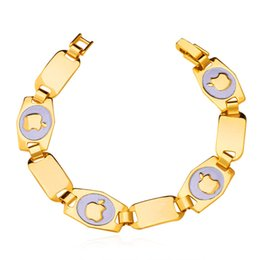 New Item Apple Bracelets Bangles For Men   Women 18K Yellow Gold Plated High Quality Fashion Jewelry Cool Jewelry N1210H