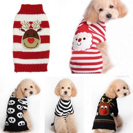 Wholesale Hot Xmas Reindeer Design Lovely Puppy Pet Cat Dog Sweater Knitted Coat Apparel Clothes Sizes CHristmas