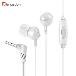Wholesale Langston Q3 MM In ear earphone for Smart phone HTC IPHONE Samsung Music media player with logo and retail package Freeshipping