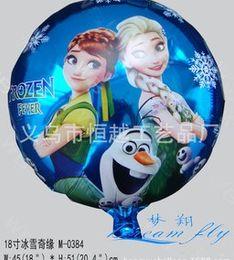 Wholesale Frozen Balloons Elas Anna Snow Man Round Aluminum Foil Blowing Balloons Christmas Festival Party Decoration Cartoon Latest Balloon B3765