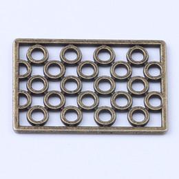 2016 New fashion copper retro rectangle Bead Manufacture DIY pandora jewelry pendant fit Necklace or Bracelets charm 300pcs lot 1413c