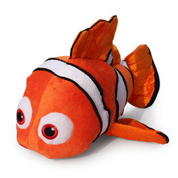 Wholesale 23cm Animated and Cute Clownfish Plush Toy Dark Yellow Nemo Children s Gift