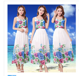 Whole sale Free size Summer Women short dress cute print flower female sand beach short dress Dresses