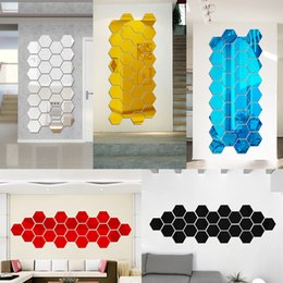Wholesale New Arrivals Wall Stickers Wallpaper Acrylic D Mirror Effect Home Room Decor Removable Modern Fashion Size mm JM1