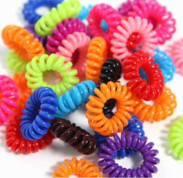 Wholesale Free shipping Fashionable Telephone Line Elastic Hair Bands Hair ties hair ring hair wear Hair Accessories Hair Products