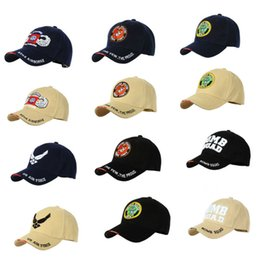 Wholesale U S Military symbol Army Tactical basketball hat adjusted American baseball caps hip hop hat cap hats for men women