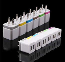 Wholesale Metal Dual USB wall Charging Charger US EU Plug A AC Power Adapter Wall Charger Plug port for Iphone Samsung Galaxy Note LG Tablet Ipad