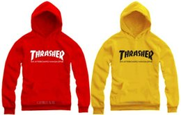 70---150cm kids hoodies street wear thrasher printed hoodie clothing popular pullover Sweatshirts for children 9 Color Free shipping