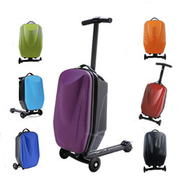 Wholesale Innovative inch Kid s Universal Wheel Board Micro Scooter Luggage Suitcase Bag PC Material Hard Travel Trolley Bags