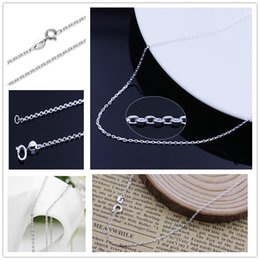 New 925 Sterling Silver cross chain copper necklace Korean Version Band necklaces 45cm O shape chains Jewelry Findings