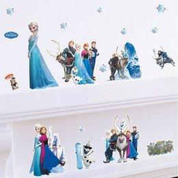 Wholesale Frozen Wall Stickers Decals in one Home Decor Decals Adesivos De Parede Para Quarto Pegatinas De Pareds Of High Quality