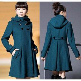 Wholesale Autumn and Winter Coat Wool Double Breasted Outerwear Wool Coat Women Medium Long Coat Wool Coa WT41