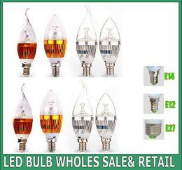 10X 3*3 9w led candle light e14 e12 led bulb lamp tubes Warm White Cool White e14 led 110v 220v candle