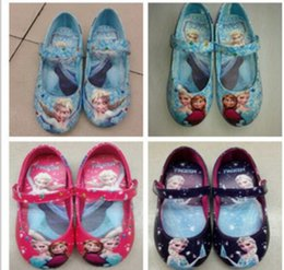 Wholesale Frozen Shoe Waterproof Casual Shoes elsa and anna Shoes Girls Flats Kids Children Princess Shoes Styles N001