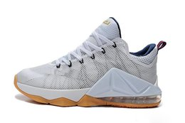 Wholesale 7 Colours With Box James Lebron XII low USA White Midnight Navy Red Metallic Gold Olympic Palmer Men Basketball Sport Shoes