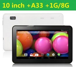 2017 tablette pc 8gb 2015 comprimés 10inch A33 1GB 8GB Quad Core Allwinner A33 android 4.4 double caméra 10 pouces Tablet PC WiFi DHL GRATUIT abordable tablette pc 8gb