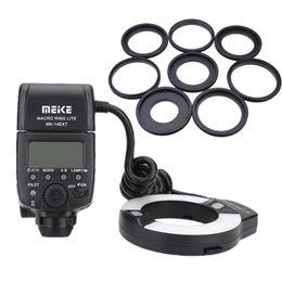 Wholesale Meike MK EXT E TTL Macro LED Ring Flash Speedlite with LED AF Assist Lamp for Canon DSLR Camera D1954