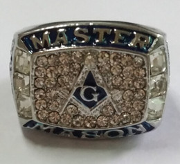 Hot crazy amazing blue lodge masonic championship ring with velvt ring box and free express shipping
