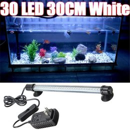 Canada Aquarium Fish Tank Accessoires 30 Lumière Eclairage LED Bleu Blanc 28CM Bar submersible Décoration étanche Lampe à clip 100-240V supplier fish aquarium clip lamp Offre