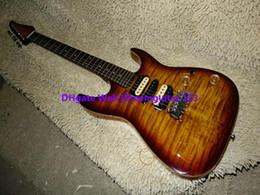 Custom Shop Brown Flame top Electric Guitar 24 frets guitars high quality wholesale guitars